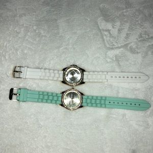 Accessories - Mint watch and white watch